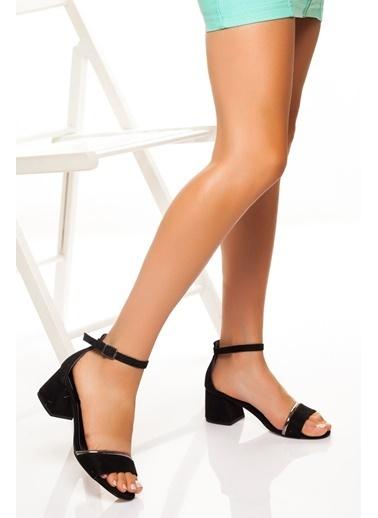 Derithy Derithy-Klasik Topuklu Ayakkabı-Pudra Süet Siyah